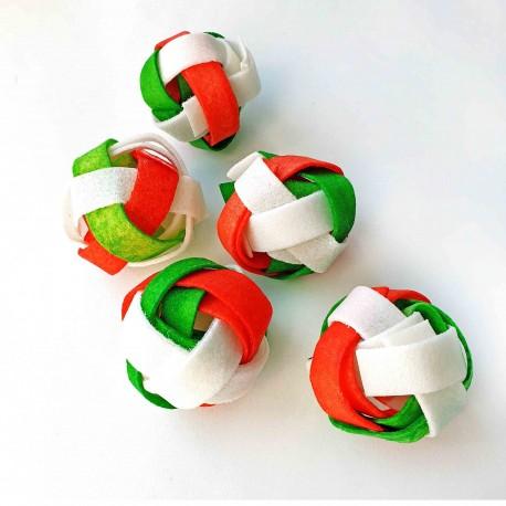 """Doggy Plecione kolorowe piłki 2,5"""" 6,5cm 30szt."""