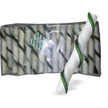 RURKA nadziewana rawhide 40 szt GREEN